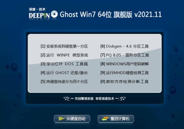 深度技术win7去广告零度版64位v2021.11